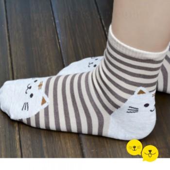 Bej Kedicik Çorap