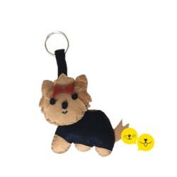 Yorkshire Terrier Keçe Anahtarlık