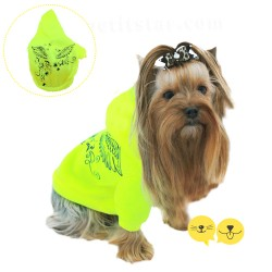 For Mini Sarı Neon Pet Sweatshirt