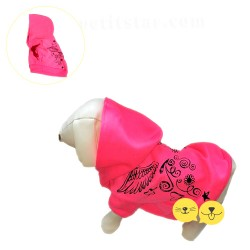 For Mini Pembe Neon Pet Sweatshirt