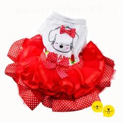 Red Fırfırlı Tütü Elbise