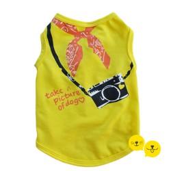 Sarı Take a Pic Tişört