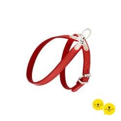 Deri Kırmızı Göğüs Tasması - XS / S -
