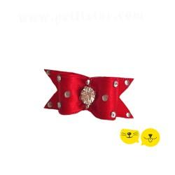 Kırmızı Taşlı Pırıl Royal Toka