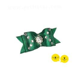Ördek Başı Yeşili Üçgen Taş Royal Toka