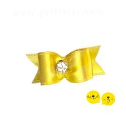 Sarı Yuvarlak Taş Royal Toka
