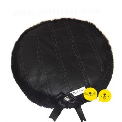 Black Leather Luxury Puf