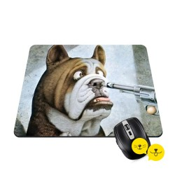 Funny Bulldog Mouse Ped